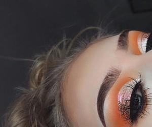 makeup, orange, and eyeshadow image