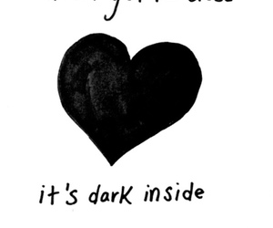 heart, dark, and quotes image