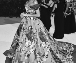 b&w, black and white, and met ball image