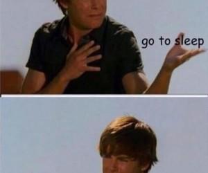 funny, zac efron, and sleep image