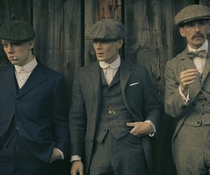 thomas shelby, arthur shelby, and john shelby image