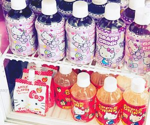 drink, hello kitty, and japanese image