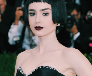 met gala, lily collins, and fashion image
