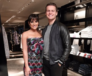lea michele and jonathan groff image