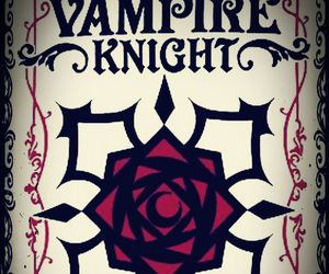 Logo, vampire knight, and rose image