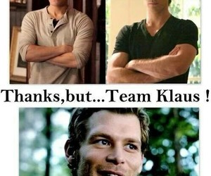 the vampire diaries, damon, and klaus image