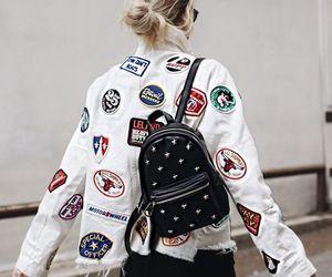 bag, blonde, and jacket image
