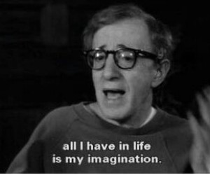 imagination, woody allen, and quotes image
