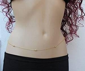 beach jewelry, belly chain, and bikini chain image
