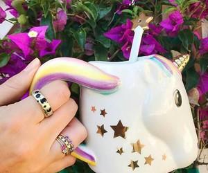 coffee, decoration, and unicorn image