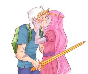 finn, adventure time, and kiss image