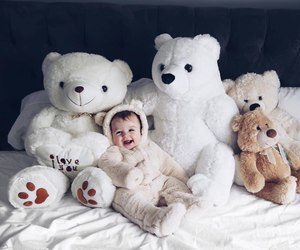 baby, bear, and kids image