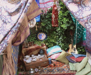 tent, hippie, and nature image