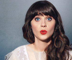 zooey deschanel, new girl, and red lips image