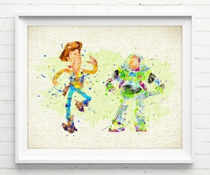 toy story and watercolor image