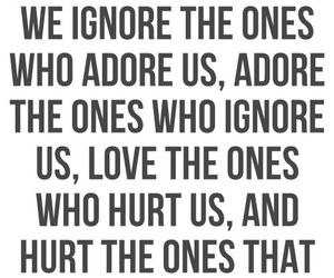 adore, ignore, and hurt image