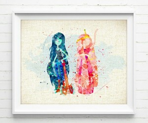 adventure time and watercolor image