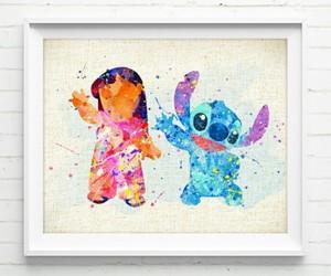 lilo & stitch and watercolor image