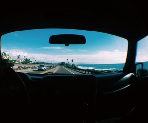 car, ocean, and Road Trip image