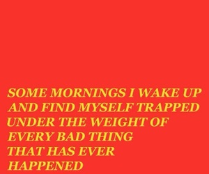 quotes, sad, and red image