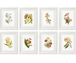 etsy, flower print, and wall decor image
