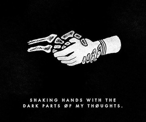 twenty one pilots, quotes, and dark image