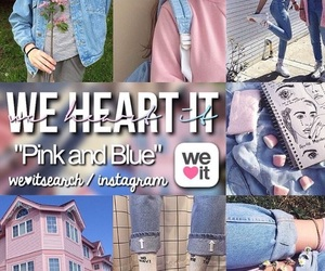 blue, pink, and pink and blue image