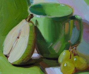 art, green, and pear image