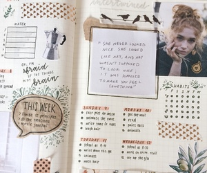 journal, school, and planner image