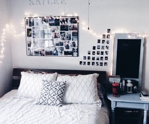 room, bedroom, and bed image