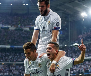 cristiano ronaldo, nacho, and real madrid image