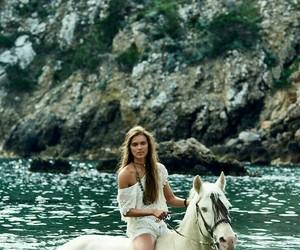 horse, girl, and boho image