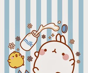 milk, molang, and cute image
