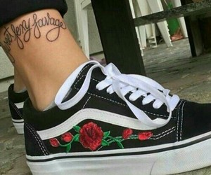 vans, tattoo, and shoes image