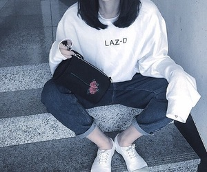 asian, jeans, and kfashion image