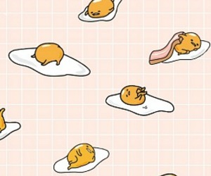 wallpaper, gudetama, and background image