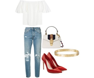 cartier, gucci, and outfits image