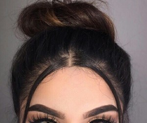 eyes, makeup, and hair image