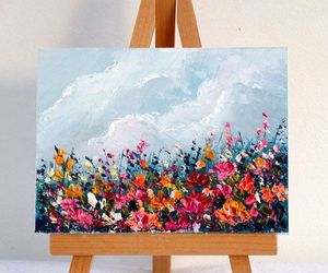 acrylic, flowers, and nature image