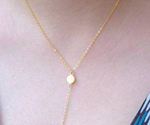 wedding necklace, bridesmaid necklace, and gold disc necklace image