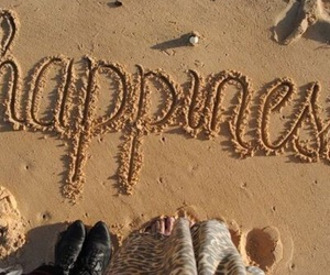 beach, happiness, and sand image