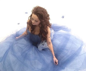 beautiful, dress, and blue image