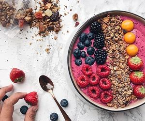 FRUiTS, goals, and smoothie bowl image