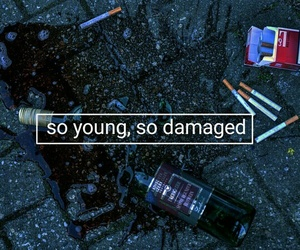 young, damaged, and cigarette image