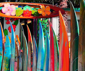 surf, summer, and surfboard image