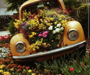 90s, car, and flowers image