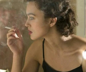 keira knightley, smoke, and atonement image