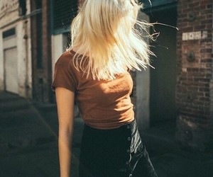 blonde hair, girls, and fashion day image