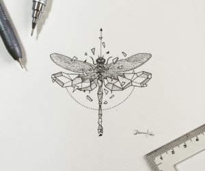 tattoo and dragonfly image