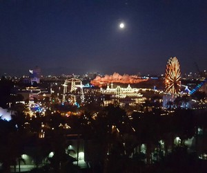 amusement park, night, and pale image